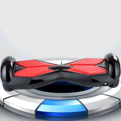 8.0 inch Smart Self Balancing Scooter Electric Hoverboard with LED Bluetooth Speakers& Remote Control Black