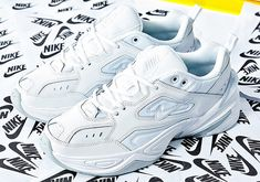 check out 4f7e0 6852b Nike continues to role out new colorways of its fashionably chunky Tekno  sneaker, serving up a super clean all-white version of the shoe that s  available at ...