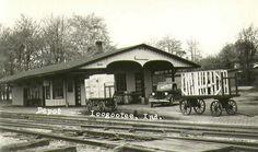 Loogootee Indiana B Depot Photograph, Circa, 1930's by Union Depot, via Flickr