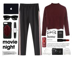 bring the popcorn: movie night by anabelisstyle on Polyvore featuring polyvore fashion style Kendall + Kylie Sun Buddies Retrò Marvis Smashbox Topshop clothing