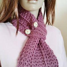 Rose Pink Scarf Vintage Rose Crochet Scarf Button Up Scarf