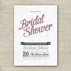 Bridal Shower Invitation Card - Printable Digital File