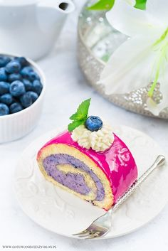 Rolada jagodowa / Blueberry swiss roll