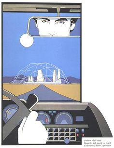 Rear View - Patrick Nagel untitled 1980 art illustration