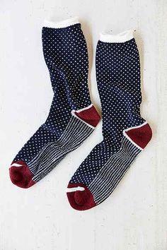 Birdseye Pattern Camp Sock - UO The cutest socks! Cute Socks, Men's Socks, Kids Socks, Foot Warmers, Warm Socks, Happy Socks, Designer Socks, Dress Socks, Vogue