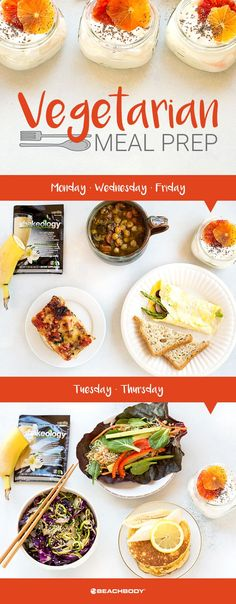 Vegetarian Meal Prep for the 21 Day Fix 1500–1800 Calorie Level
