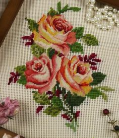 """16"""" PREWORKED Needlepoint Canv 