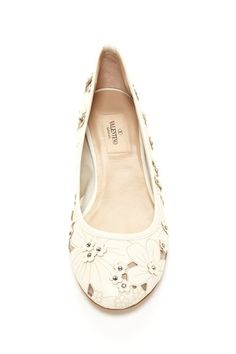 Valentino Floral Flat  Future wedding shoes? ;)