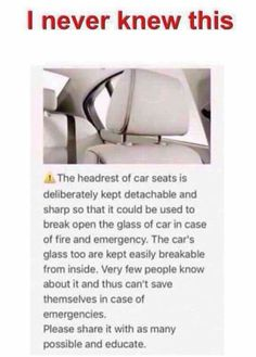 I never knew this.