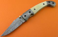 Large Custom 100 Handmade & Forged Damascus Steel by SanaCutlery, $89.99