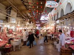 central market Athens, Greece. This is where the lambs were. We were there close to Easter eeeek!