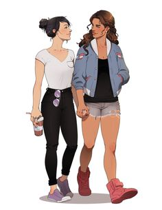 Kate Bishop and America Chavez // this is so cute. :33