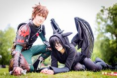 Hiccup and Toothless Cosplay