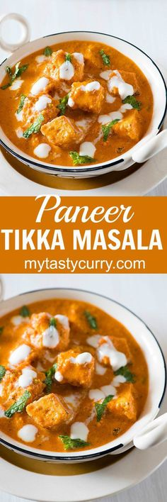 Paneer Tikka Masala is rich and flavourful Paneer dish. The recipe of this restaurant style Paneer tikka masala is inspired from popular British Curry Chicken Tikka Masala.