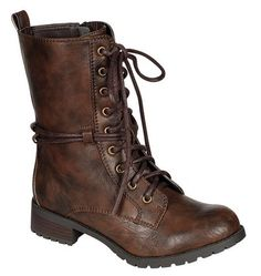 New Women Military Combat Moto Lace Up Flat Low Stacked Heel Ankle Boots | eBay