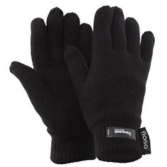 FLOSO® Ladies/Womens Thinsulate Thermal Knitted Gloves (3M 40g) (One Size) (Black) - http://todays-shopping.xyz/2016/07/03/floso-ladieswomens-thinsulate-thermal-knitted-gloves-3m-40g-one-size-black/