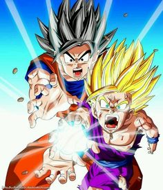 Goku: release it Gohan! release everything!!!  /This is my favorite epiosde of Dragon ball z
