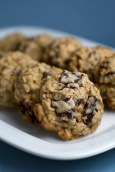 Dark Chocolate Chunk and Dried Cherry Oatmeal Cookies feature a fantastic sweet and tart flavor combination! - Bake or Break