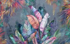 Potpourri Banana Leaves – high-quality wall murals with free UK delivery – Photowall Standard Wallpaper, Modern Wallpaper, Textured Wallpaper, Wall Wallpaper, Designer Wallpaper, Mural Art, Wall Murals, Wall Art, Images Murales