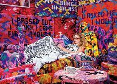 Insatiable Crocheter Agata Oleksiak's Studio Apartment Installation - Home Design Spring 2011 -- New York Magazine - Nymag Yarn Bombing, Crochet Art, Love Crochet, Knit Art, Guerilla Knitting, Amy Sedaris, Tarot, Art Yarn, Guerrilla