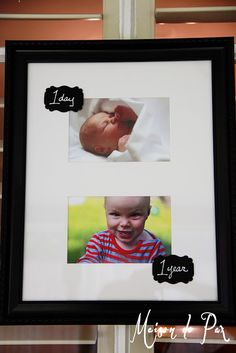 1 Day to 1 Year Pictures: easy, cheap, perfect for a first birthday party