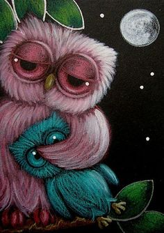 Google Image Result for http://www.ebsqart.com/Art/Gallery/Media-Style/688189/650/650/PINK-SLEEPY-BABY-OWL-with-OWL-DOLL.jpg