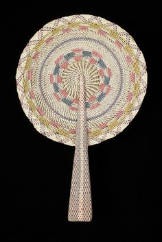 Vegetable fiber fan, 20th century, KSUM 1995.17.268.