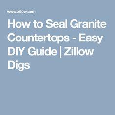 how to clean granite countertops before sealing