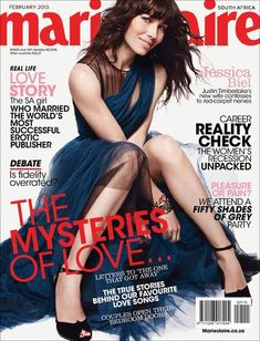 Jessica Biel - Marie Claire Magazine Cover [South Africa] (February 2013)
