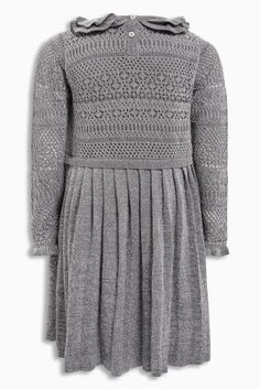 Buy Grey Sparkle Knitted Party Dress (3mths-6yrs) from Next Ireland
