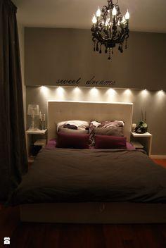 Gray is my way... - Średnia sypialnia małżeńska, styl glamour - zdjęcie od bubblechair