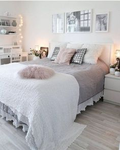 small bedroom design , small bedroom design ideas , minimalist bedroom design for small rooms , how to design a small bedroom Boho Bedroom Decor, Decor Room, Cozy Bedroom, Trendy Bedroom, Modern Bedroom, Girls Bedroom, Contemporary Bedroom, Teen Bedrooms, White Bedroom