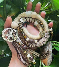Dreadwrap Peace | Etsy Magic Art, Dreads, Earrings, Jewelry, Flower Of Life, Rhinestones, Handmade, Schmuck, Ear Rings