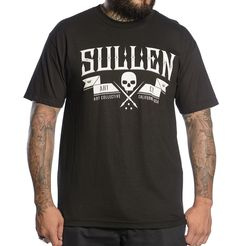Sullen Raise the Flag - Sale  100% cotton tee with oversized printed artwork on front and sullen badge on the back.