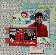 Oh Joy Snow! Layout by Kim Holmes via Jillibean Soup blog