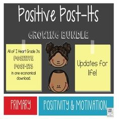Welcome to I Heart Grade 3!  This bundle contains all the popular Positive Post-Its as well as all future Positive Post-it products!  Buy early to save!