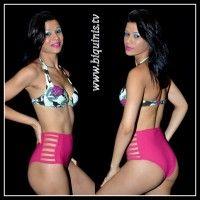 Biquíni Sweet Lady com bojo e calcinha Hot Pant Ref.12633 Tamanhos P,M e G.