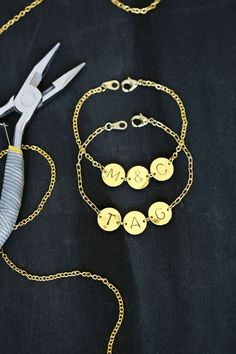 Need to make one of these! Stamped Initial Bracelet (click through for tutorial)