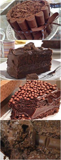 APRENDA ESSA RECEITA DE BOLO SUFLAIR É MUITO GOSTOSO!! VEJA AQUI>>>Faça o recheio e a cobertura: reserve alguns pedaços de chocolate para a decoração e derreta o restante em banho-maria ou no micro-ondas. 7. Junte à mistura o creme de leite e 1 colher (sopa) de conhaque e misture até formar um creme. #receita#bolo#torta#doce#sobremesa#aniversario#pudim#mousse#pave#Cheesecake#chocolate#confeitaria