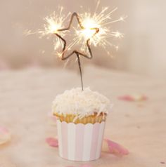 Fourth of July star sparkler candles