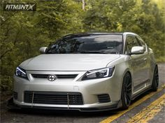 This 2011 Scion tC FWD is running 30 wheels Hankook Ventus Noble 2 tires with BC Racing Coilovers suspension. Toyota Scion Tc, Car Tuning, Car Parts, Car Pictures, Dream Cars, Super Cars, Racing, Car Garage, Vehicles