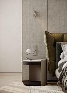 Master Bedroom Interior, Bedroom Bed Design, Modern Bedroom, Cama Queen, Bed Furniture, Luxurious Bedrooms, Interior Design Inspiration, Interior Architecture, Floating Nightstand