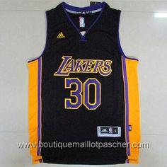 maillot nba pas cher Los Angeles Lakers Randle #30 noir nouveaux tissu 22,99€