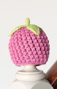 Berry Cute Raspberry Newborn Crochet Hat