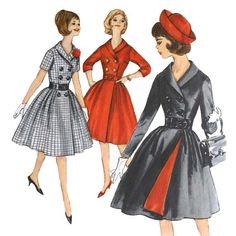 Vintage 1960s Double Breasted Dress Pattern by VtgSewingPatterns, $20.00