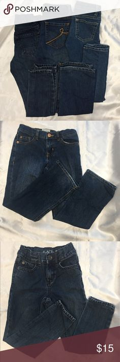 3 Pairs of Gently Worn Size 6 Jeans 👖 Gently Worn: Children Place Bootcut Stretch Jeans Children Place Bootcut Skinny Leg Jeans Crazy 8 Skinny Leg Jeans Children's Place Bottoms Jeans