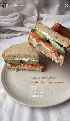 Think Food, Love Food, Plats Healthy, Sandwiches For Lunch, Cooking Recipes, Healthy Recipes, Healthy Food, Food Goals, Food Is Fuel