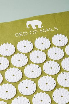 The Original Swedish Bed of Nails Acupressure Mat in Botanic Green | Now available at Anthropologie #acupressure  Shop the Bed of Nails Mat and more Anthropologie at Anthropologie today. Read customer reviews, discover product details and more.