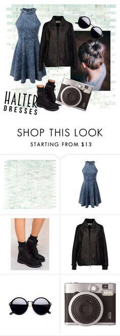 """""""Untitled #4"""" by karlagtz on Polyvore featuring WithChic, Timberland, M.GRIFONI DENIM, Fujifilm and halterdresses"""