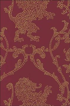 Shand Kydd Wallpaper | Regent Red and Gold | AmericanBlinds.com